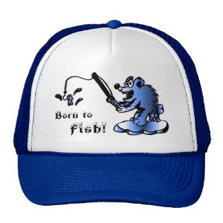 Born to Fish Cap Hats