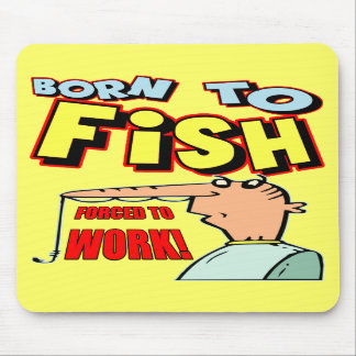 Born To Fish Fishing T-shirts and Gifts Mouse Mats
