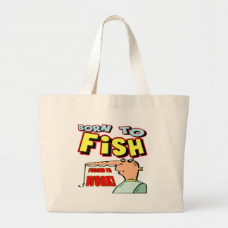 Born To Fish Fishing T-shirts and Gifts Tote Bags
