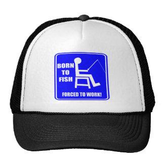 Born To Fish Fishing T-shirts Gifts Trucker Hat