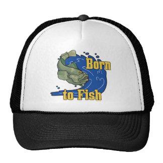 Born to Fish Fishing TShirt Trucker Hat