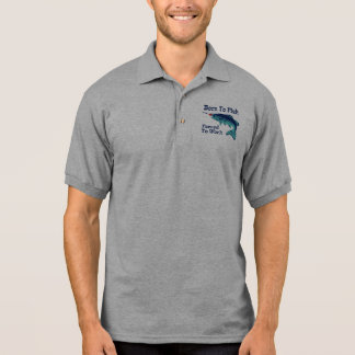 Born To Fish Forced To Work Polo Shirt