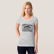 Born To Fish Forced To Work T-Shirt Women Grey