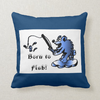 Born to fish Pillow