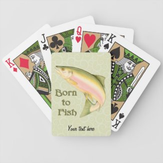 Born to Fish Poker Cards