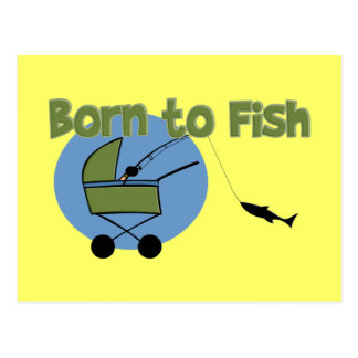 Born To Fish Post Cards