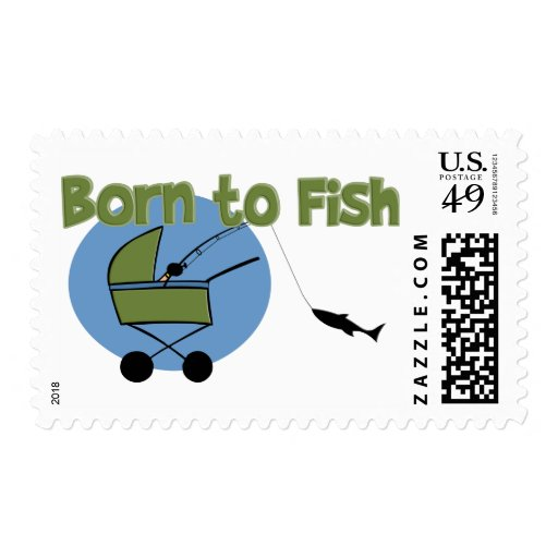 Born To Fish Stamps