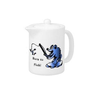 Born to fish Teapot