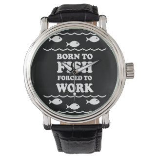 born to fish wristwatch