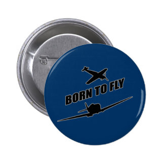 Born To Fly 2 Inch Round Button