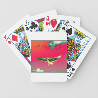 Born to Fly Bicycle Playing Cards
