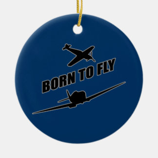 Born To Fly Ceramic Ornament