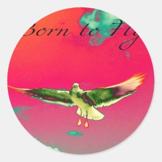 Born to Fly Classic Round Sticker
