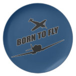Born To Fly Dinner Plates
