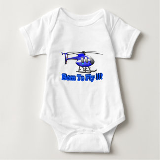 Born To Fly !!! Helicopter Baby Bodysuit