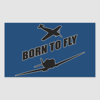 Born To Fly Rectangular Stickers