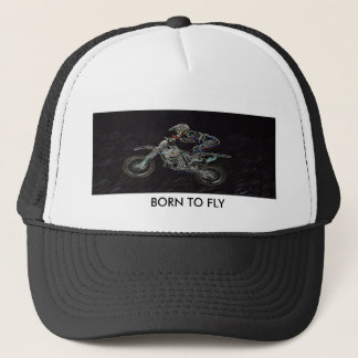 BORN TO FLY TRUCKER HAT