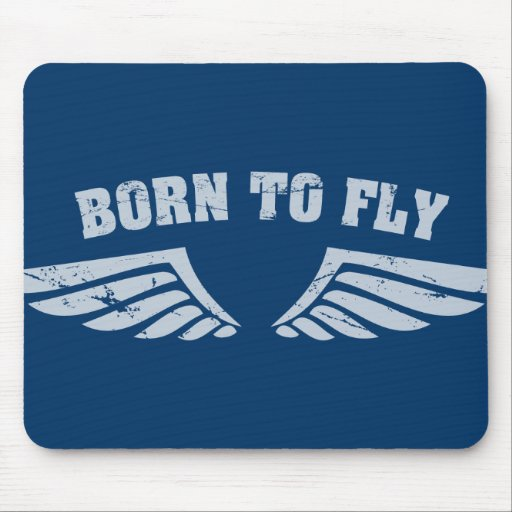 Born To Fly Wings Mouse Pad
