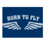 Born To Fly Wings Postcards