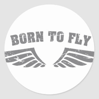 Born To Fly Wings Classic Round Sticker