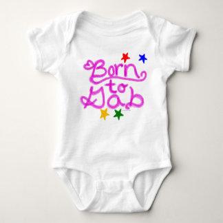Born to Gab Stars Pink Heart Baby Girl Baby Bodysuit