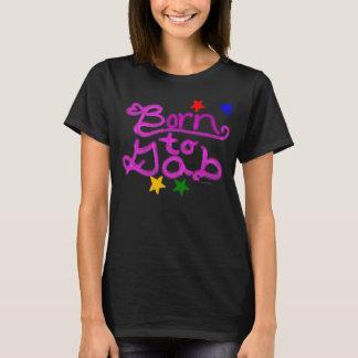 Born to Gab Stars Pink Heart Black Shirt