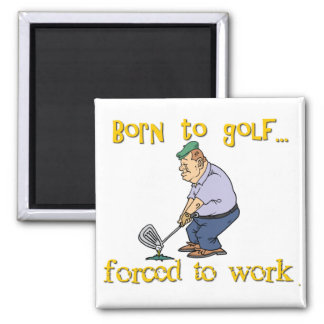 Born to Golf 2 Inch Square Magnet