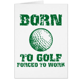 Born To Golf Cards
