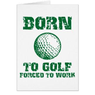 Born To Golf Card