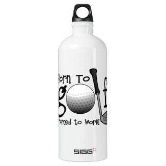 Born to Golf, Forced to Work Aluminum Water Bottle