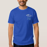Born to Golf, Forced to Work Funny Golfing Embroidered T-Shirt