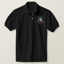Born to Golf, Forced to Work Funny Golfing Logo Embroidered Polo Shirt