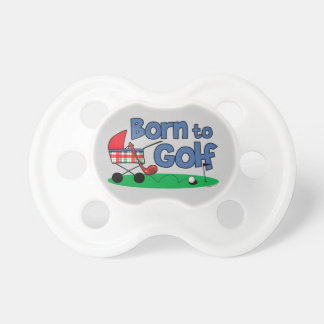 Born To Golf Baby Pacifier