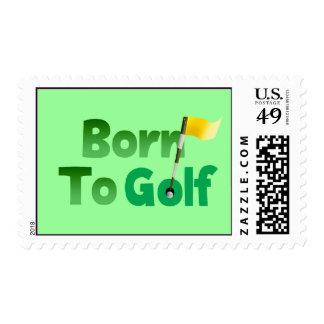 Born To Golf Postage Stamp