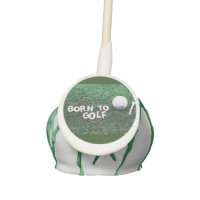 Born to golf with golf ball and tee cake pop