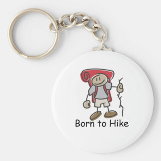 Born to Hike gifts. Basic Round Button Keychain