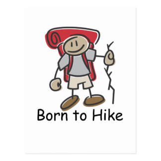 Born to Hike gifts. Postcard
