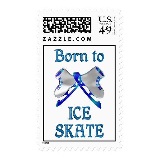 Born to Ice Skate Stamps