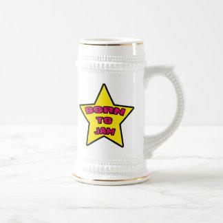 Born To Jam Beer Stein