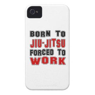 Born to Jiu-Jitsu forced to work Case-Mate iPhone 4 Cases