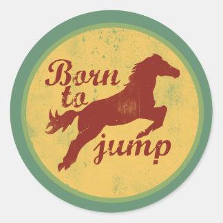 Born to Jump Classic Round Sticker