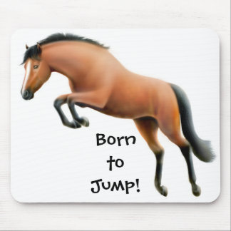Born to Jump Thoroughbred Horse Mousepad