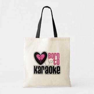Born to Karaoke Heart Budget Tote Bag