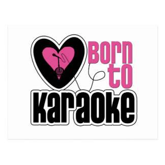 Born to Karaoke Heart Postcard