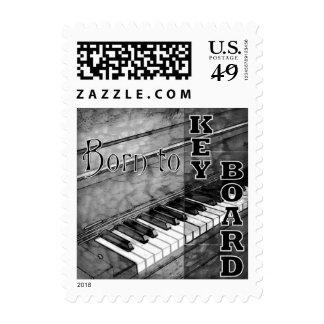 Born To Keyboard Custom Postage Stamp