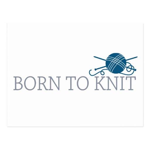Born To Knit Postcard