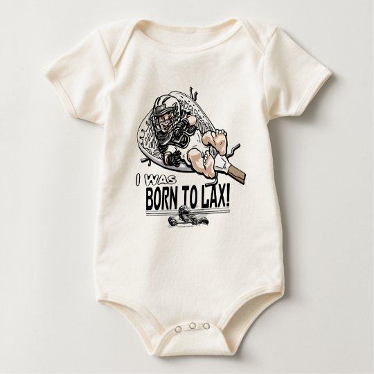 Born to LaX Lacrosse Gear Baby Bodysuit