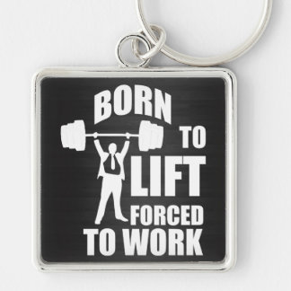 Born To Lift. Forced To Work. Keychain