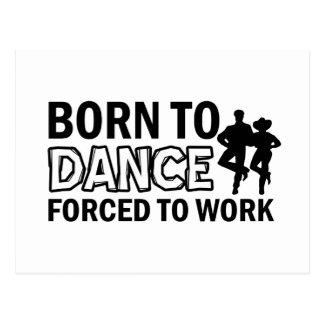 born to line-dance postcard