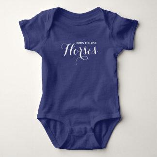 Born to Love Horses Baby Bodysuit